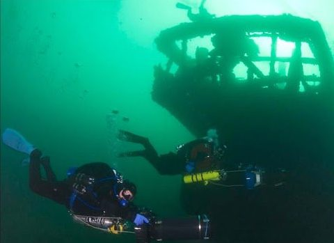 Underwater Diving Ship